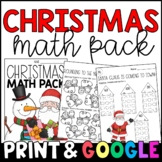Christmas Math Morning Work / Homework {PRINT & GO}
