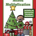 Christmas Multiplication Mixed Facts Center and Interactiv