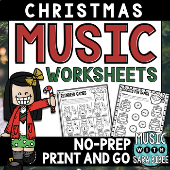 Christmas Music Activities- Mega Pack- 80 Pages and Great for Centers!