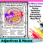 Christmas Nouns and Adjectives Word Search Activity