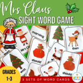 Christmas Old Maid (Mrs Claus) - Sight Word Cards
