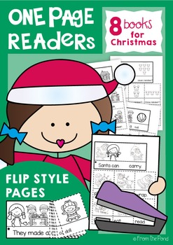 Christmas One Page Readers - Printable Flip Books