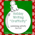 "Christmas Ornament ""Craftivity"" - a K-5 Publishing activity"