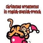 Christmas Ornament Printables in English, Spanish, and French