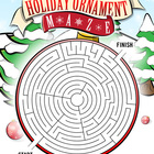 Christmas Puzzle Maze - Holiday Puzzles, Games - Ornament