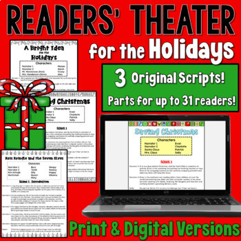 Holidays Readers' Theater BUNDLE (a set of 3 scripts containing 29 parts)