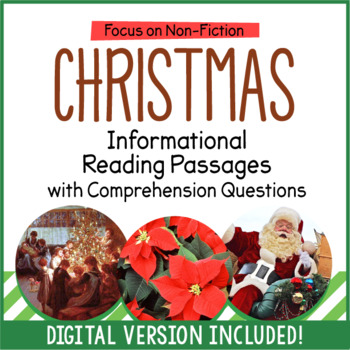 Christmas Close Reading Informational Passages and Questions