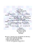 Christmas SNOWFLAKE POEM with Figurative Language and poet