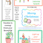 Christmas Secret Pal Treat Tags
