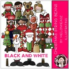 Christmas String Beans bundle by melonheadz black and white