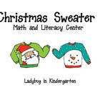 Christmas Sweater Literacy and Math Centers