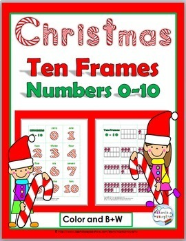Christmas Ten-Frames Matching Game (Numbers 0-10)