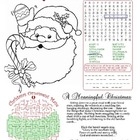 Christmas Themed Fun Page (CHRISTIAN)