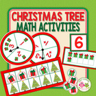 Christmas Tree Fill The Frame:  Ten Frame Grid Game