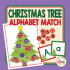 Christmas Tree Letter Match for Preschool and Early Childhood