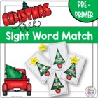 Christmas Tree Sight Word Match Dolch Pre-primer list