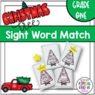 Christmas Tree Sight Word Match Dolch First Grade List