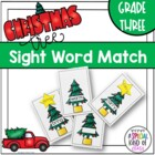 Christmas Tree Sight Word Match Dolch Third Grade List