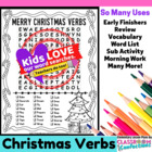 Christmas Verbs Word Search Activity