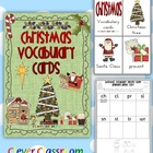 Christmas Vocabulary Cards with Record Sheet - 20 pages