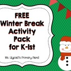 Christmas / Winter Break Activity Packet for K/1