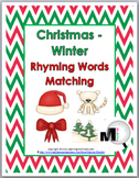 Christmas / Winter Rhyming Words Matching Activity
