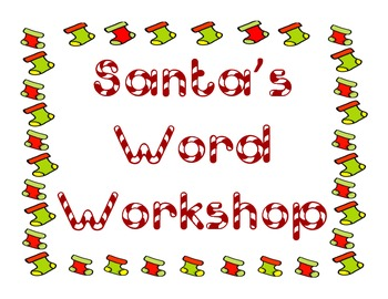 Christmas Word Vocabulary and Idiom packet!