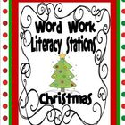 Christmas Word Work Literacy Stations and Centers