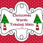 Christmas Words Tracing Mats ~ Book