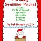 Christmas Worksheets Grade 3-4: synonyms, antonyms, prefix