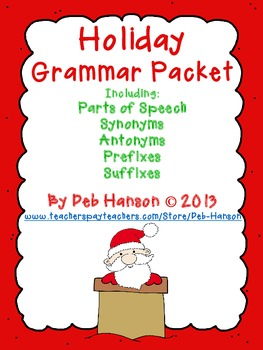 Christmas Worksheets Grade 3-4: synonyms, antonyms, prefixes, suffixes