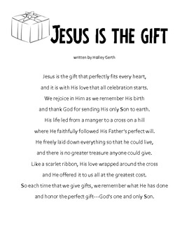 Christmas Writing Activity - My Gift To Jesus; Letters To Jesus