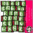 Christmas alphabet blocks bundle by melonheadz