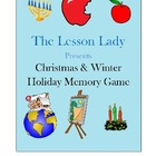 Christmas and Winter Holiday Memory Game