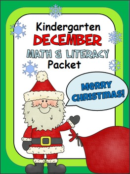 Christmas Math And Literacy Packet for Kindergarten
