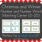 Christmas and Winter Number and Number Word Pocket Chart Center