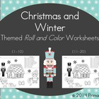 Christmas and Winter Roll and Color Worksheets