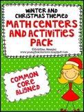Christmas and Winter Themed Math Centers and Activities {C