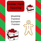 Christmas and holiday fraction math (equivalent numbers an