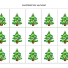 Christmas-themed math mats for preschool and K/1st grade