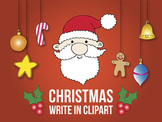 Christmas write in clip art