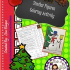 Christmas/Holiday Similar Figures Word Problems Coloring Activity