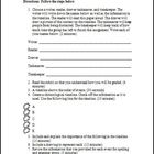 Chronological Timeline Activity Template and Rubric
