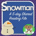 Chubby Little Snowman- 5 Day Shared Reading K-1 SMARTboard