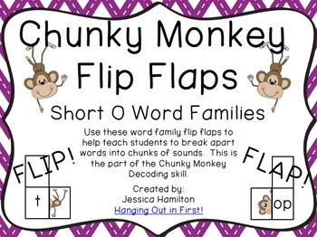 Chunky Monkey Flip Flaps - Short O Word Families