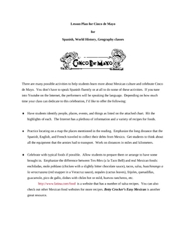 Cinco de Mayo Lesson Plan