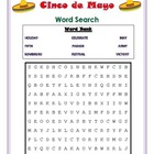 Cinco de Mayo Word Search - primary