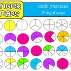 Circle Fractions Clip Art Set