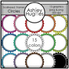 Circle Scalloped Frames {Graphics for Commercial Use}