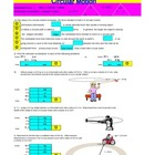 Physics - Circular Motion Worksheet - Interactive .xls Worksheet